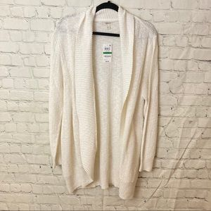 Style&co white open cardigan